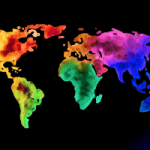 Mapamundi manchas-colores